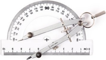 protractor and compass. angle converter degree, grade, radian, steradian © Constantinos - Fotolia